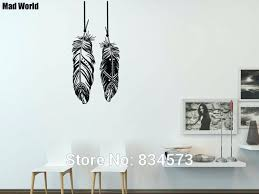 bohemian wall decor mad world feathers tribal bohemian wall art stickers wall decal home decoration removable bohemian wall decor ideas