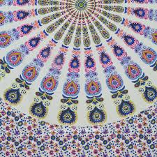 Bohemian Pattern Inspiration Large Colorful Cotton Bohemian Pattern Mandala Tapestry Wall Hanging