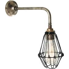 single wall light in antique silver