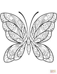 15 Awesome Butterfly Coloring Pages For Adults Karen Coloring Page