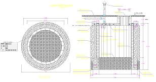 Percolation Well Design Percolation Well Plan And Section Dwg File Cadbull