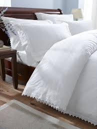broderie balm anglais 9086 duvet cover and 2 pillowcases bedding bed set polycotton white super king co uk kitchen home