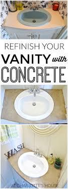 Refinish Bathroom Vanity Top Refinished Concrete Vanity Top