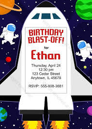 Space Party Invitation Space Shuttle Party Invitation Printable Birthday Invite