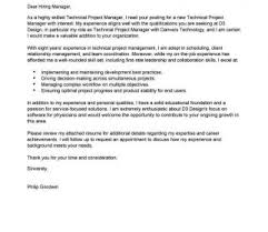 Technical Manager Cover Letter What Is Technical Project Manager Leading Professional Cover Letter