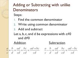 adding subtracting rational expressions like adding and subtracting rational expressions sec 9 2 sol aii ppt