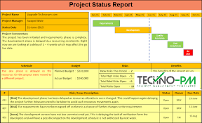 Project Management Report Templates Project Status Report Template Ppt Project Management