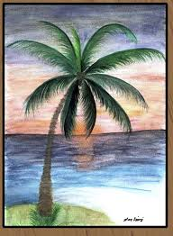 Let s draw palm trees. Great Guide. Easy to follow process. Art.