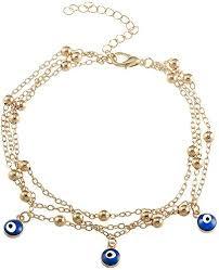 <b>Fashion</b> Bohemian Multilayer <b>Blue Evil Eye</b> Pendant Beads Beach ...