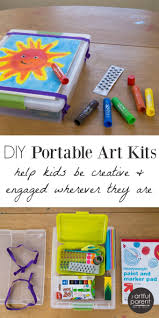 diy portable art kits for kids to use for family trips and gifts