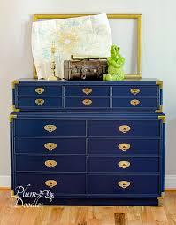 dark blue dresser. Unique Dark Dark Blue Campaign Dresser With Brass Pulls To R