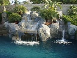 rock waterfall rock pool glamorous pacific pools and patios