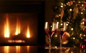 christmas fireplace hd wallpaper. Wonderful Fireplace Twowineglasseschristmasfireplacemerrychristmashdwallpaper To Christmas Fireplace Hd Wallpaper L