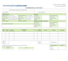 Printable Commercial Invoice Commercial Invoice For Export In Excel