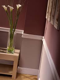 chair rail paint idea wine color on the bottom in a fau finish and beige on the top white on trim