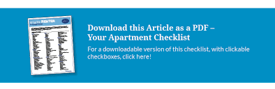 First Apartment Checklist Everything Youll Need And A Complete To
