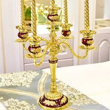 Kristall Candlestick Metall Hochzeit Inhaber Silber Glas