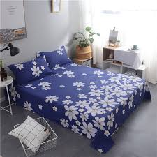 100 cotton sheets king. Interesting Sheets Dark Blue  White Printing Pattern 3Pcs 100 Cotton Bed Sheets KingQueen  Size With 100 King AliExpress