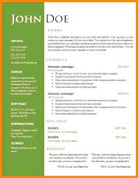 Resume Format Word 6 Format Word Document Resume Format Word File ...