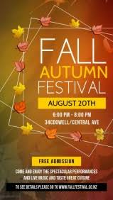 Fall Festival Flyer Free Template Customize 1 550 Fall Poster Templates Postermywall