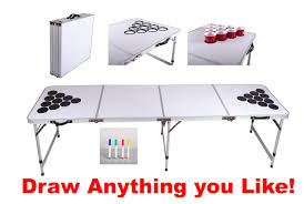 Beer Cooler Coffee Table Beer Pong Table Drinking Games Fun Laugh Ice Cooler Balls Throw Cheers