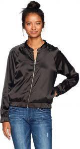 Volcom Womens Beat Beach Bomber Jacket Black Xl