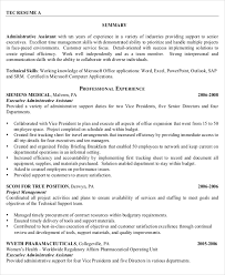 Administrative Assistant Resume Examples Impressive 60 Senior Administrative Assistant Resume Templates Free Sample