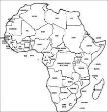 Empty Map Of Africa World Maps