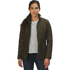 barbour cavalry polarquilt jacket women s dark olive olive