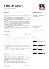 Social Media Manager Resume Samples Templates Visualcv