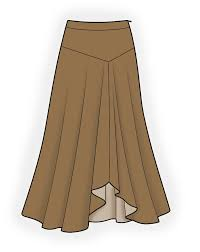 Long Skirt Patterns Awesome Long Skirt Sewing Pattern 48 Madetomeasure Sewing Pattern