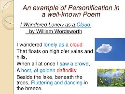 personification in poetry presentation  9 an example of personification