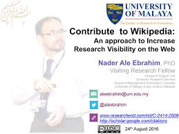 Contribute To Wikipedia An Approach To Increase Research Visibility