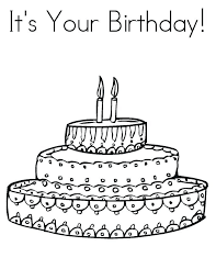 Coloring Pagesbirthday Cake Birthday Cake Coloring Pages Printable