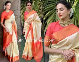 Latest Design Kanjivaram Sarees Shilpa Reddy In A Kanjivaram Saree Indian Kanjivaram