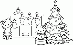 Small Picture Christmas Fireplace Coloring Pages Coloring Coloring Pages