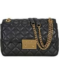 Deals on Michael Kors Sloan Large Quilted Leather Shoulder Bag ... & Michael Kors Sloan Large Quilted Leather Shoulder Bag - Black, Women's,  Blacks Adamdwight.com