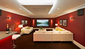 Astonishing Exotic Home Theater Design Ideas With White Fabric Best Color For Home Theater Room