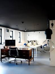 Basement Office Design Impressive 48 Dramatic Black Ceiling Ideas Classroom Color Scheme Pinterest