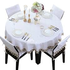 70 inch round tablecloth white designs