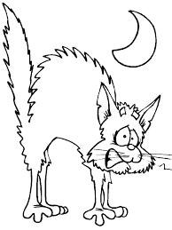 Small Picture Halloween Coloring Pages Of Black Cats Halloween Spooky And Cat