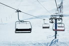 ski lift chairs stock image image of chair hill landscape 6317457