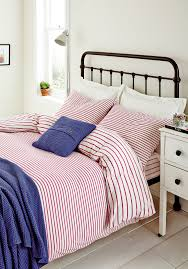 joules mariners stripe double duvet set pink duvet cover extra image