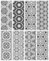 Small Picture Coloring Page Printable Bookmarks Mosaic books Adult coloring