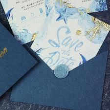 Elegant Invitation Cards Luxurious Wedding Decoration Supplies Blue Laser Cut Wedding Invitations Elegant Invitation Cards