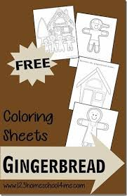 Great coloring sheet and instant download. Free Gingerbread Coloring Sheets For Kids