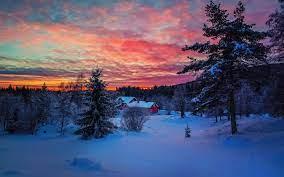 Snow Sunset Winter Wallpapers - Top ...