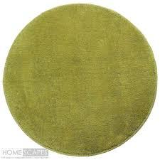 Circular Green Rug Cotton Tufted Green Rug Non Slip Childrens