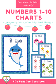 Teacher Resource Baby Shark Numbers 1 10 Charts The