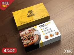 Fast Food Business Card Design Psd Fast Food Restaurant Business Card Design Visiting